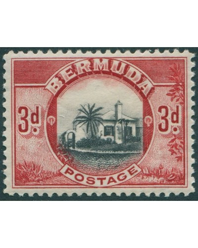 Bermuda 1936 SG103 3d black and red Point House MLH