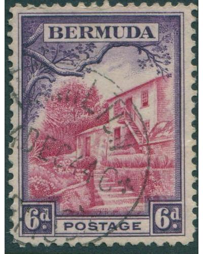 Bermuda 1936 SG104 6d red and violet House at Par-la-Ville FU