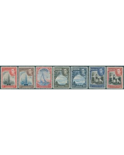 Bermuda 1938 SG110-114 KGVI Scenes (8) MLH
