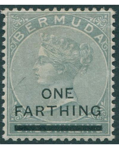 Bermuda 1901 SG30 ONE FARTHING on 1/- grey QV MLH