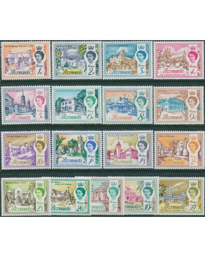 Bermuda 1962 SG163-179 Buildings set MLH