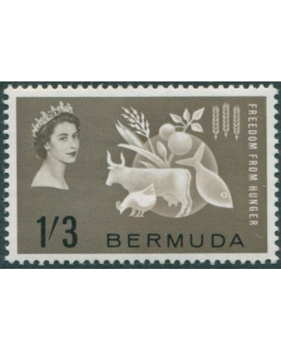 Bermuda 1963 SG180 1/3d Freedom from Hunger MLH