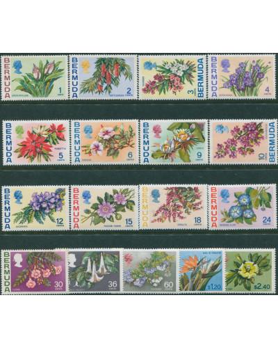 Bermuda 1970 SG249-265 Flowers MLH