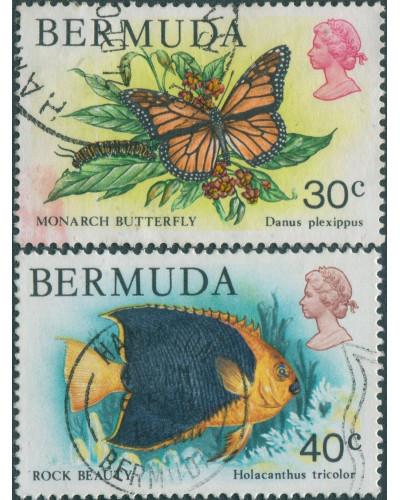 Bermuda 1978 SG397-398 Butterfly Fish FU