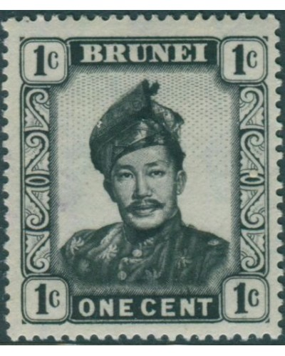 Brunei 1952 SG100 1c black Sultan MLH