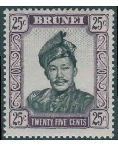 Brunei 1964 SG127 25c black and purple Sultan MLH