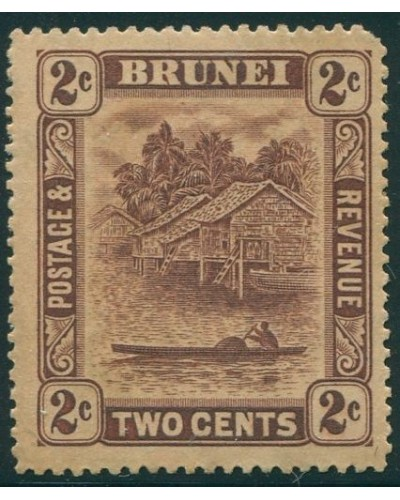 Brunei 1908 SG61 2c brown River View MLH