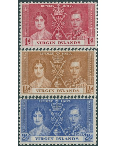 British Virgin Islands 1937 SG107-109 Coronation set MNG