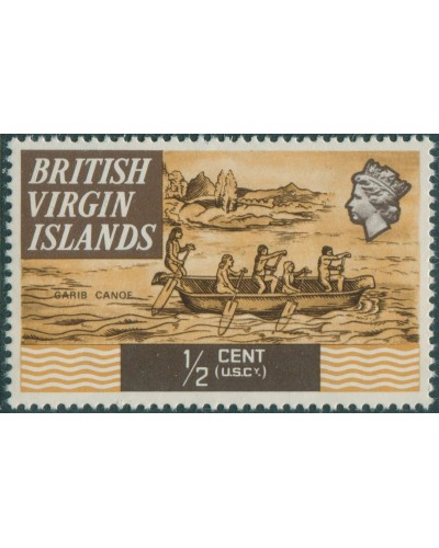British Virgin Islands 1970 SG240 ½c Carib Canoe MNH