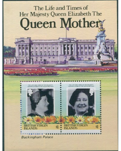 British Virgin Islands 1985 SG587A Queen Mother MS MNH