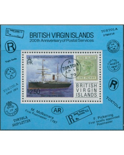 British Virgin Islands 1987 SG666 Postal Services MS MNH