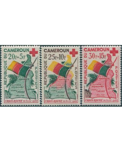 Cameroun 1961 SG280-282 Red Cross Fund set MLH