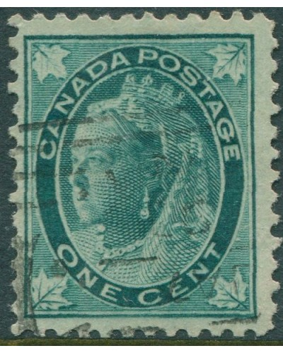 Canada 1897 SG143 1c green QV maple-leaves FU