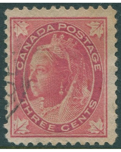 Canada 1897 SG145 3c red QV maple-leaves FU