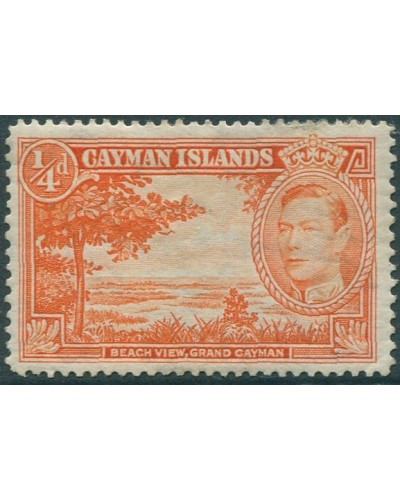 Cayman Islands 1938 SG115a ¼d orange Beach View KGVI MLH