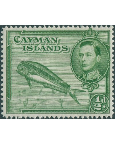 Cayman Islands 1938 SG116 ¼d green Dolphin KGVI MH