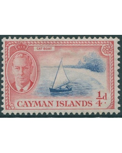 Cayman Islands 1950 SG135 ¼d blue and red Cat Boat KGVI MLH