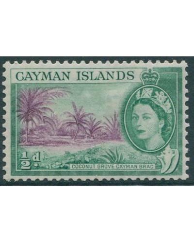 Cayman Islands 1953 SG149 ½d violet and green Coconut Grove MLH