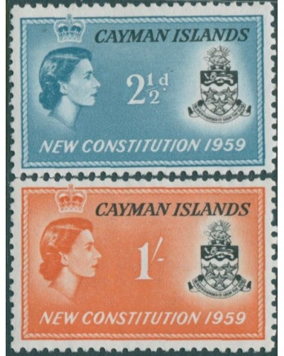 Cayman Islands 1959 SG163-164 New Constitution MLH