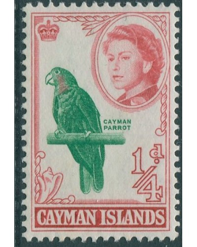 Cayman Islands 1962 SG165 ¼d green and red Parrot QEII MLH