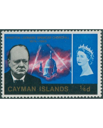 Cayman Islands 1966 SG188 ¼d Churchill MNH