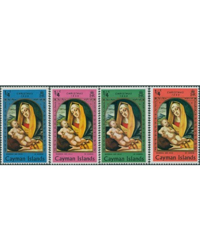 Cayman Islands 1969 SG253-256 Christmas set MNH