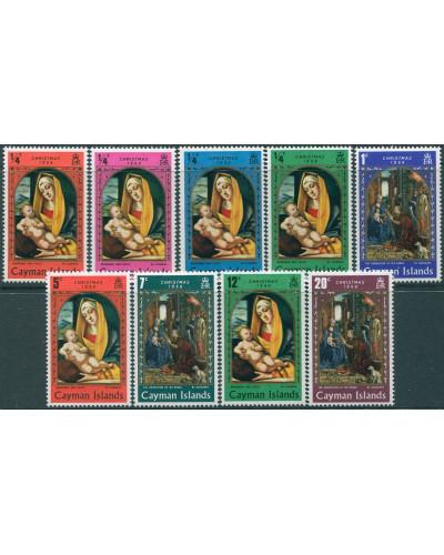 Cayman Islands 1969 SG253-261 Christmas set MNH