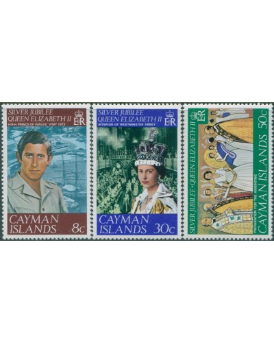 Cayman Islands 1977 SG427-429 QEII Silver Jubilee set MNH