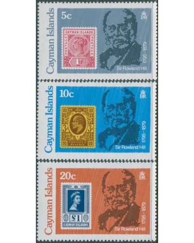 Cayman Islands 1979 SG489-491 Sir Rowland Hill set MNH