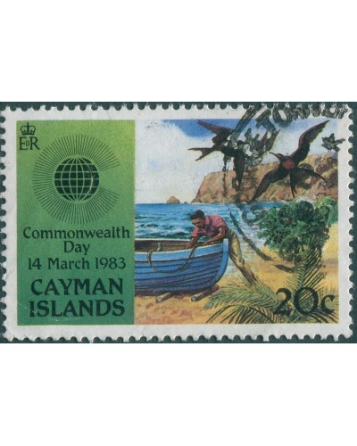 Cayman Islands 1983 SG576 20c Fishing FU