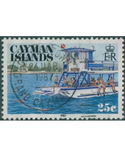 Cayman Islands 1987 SG649 25c Snorkelling FU