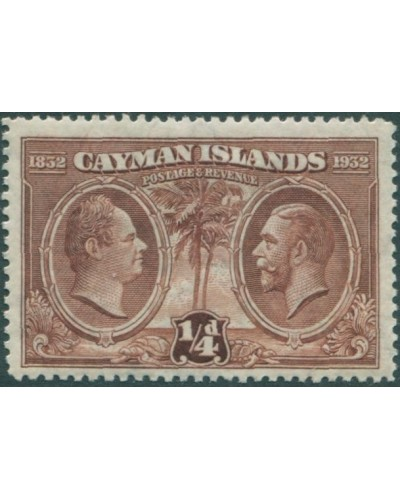 Cayman Islands 1932 SG84 ¼d brown KWIV and KGV MH