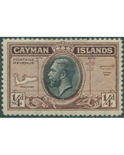 Cayman Islands 1935 SG96 ¼d black and brown KGV MH