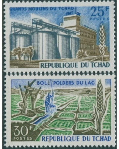 Chad 1967 SG188-189 Economic Development set MNH