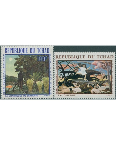 Chad 1968 SG207-208 Paintings by Henri Rousseau set MNH