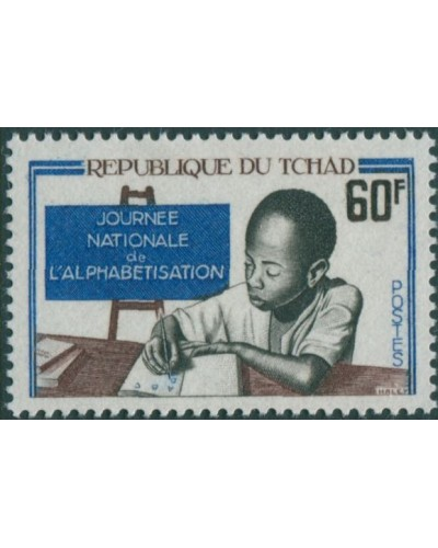 Chad 1968 SG210 60f Literacy Day MNH