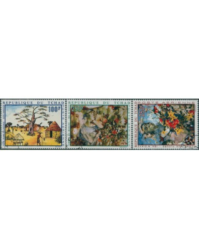 Chad 1970 SG296-298 African Paintings set FU