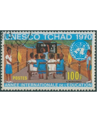 Chad 1970 SG301 100f UNESCO FU