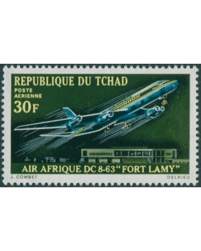 Chad 1970 SG309 30f Air Afrique DC-8 Fort Lamy MNH