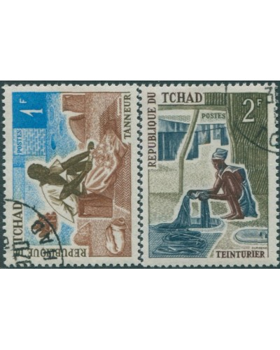 Chad 1970 SG311-312 Trades and Handicrafts FU