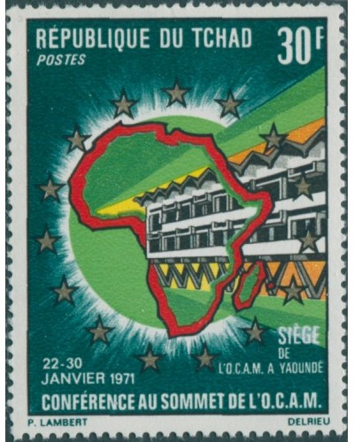 Chad 1971 SG320 30f OCAM Conference Fort Lamy MNH