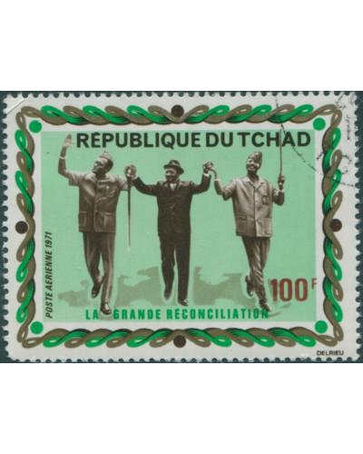 Chad 1971 SG330 100f Reconciliation FU