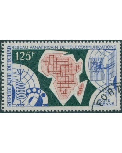 Chad 1971 SG334 125f World Telecommunications Day FU