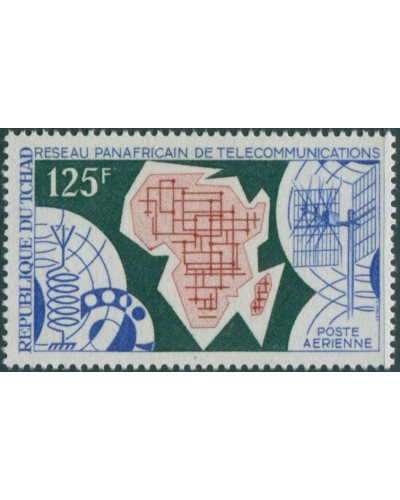 Chad 1971 SG334 125f World Telecommunications Day MNH