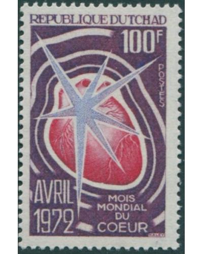 Chad 1972 SG357 100f World Heart Month MNH