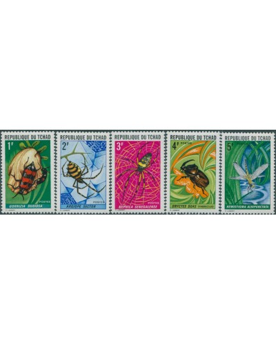 Chad 1972 SG358-362 Insects MLH