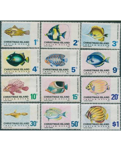 Christmas Island 1968 SG22-31 Fish set MLH