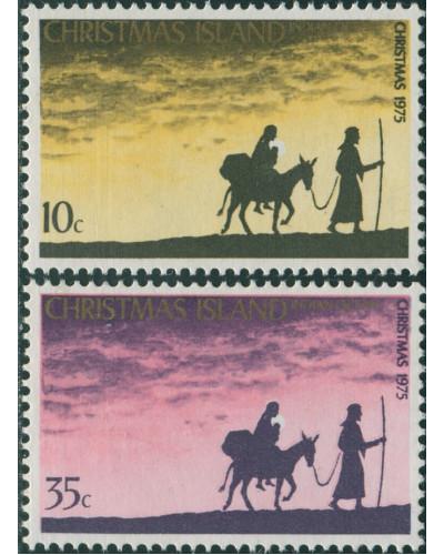 Christmas Island 1975 SG61-62 Christmas set MLH