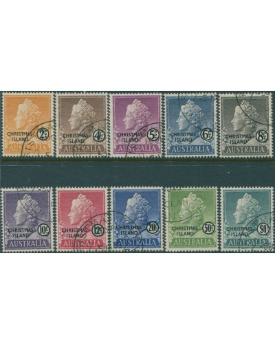 Christmas Island 1958 SG1-10 QEII set FU