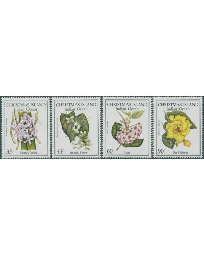 Christmas Island 1986 SG216-219 Flowers set MNH